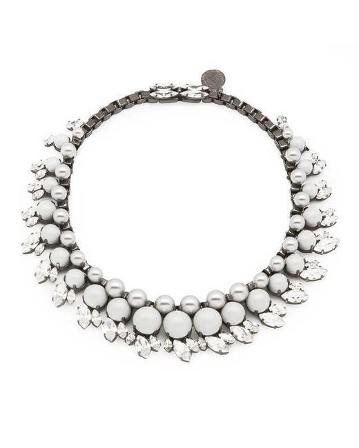 Ellen Conde | White Colette Classic Necklace | Lyst