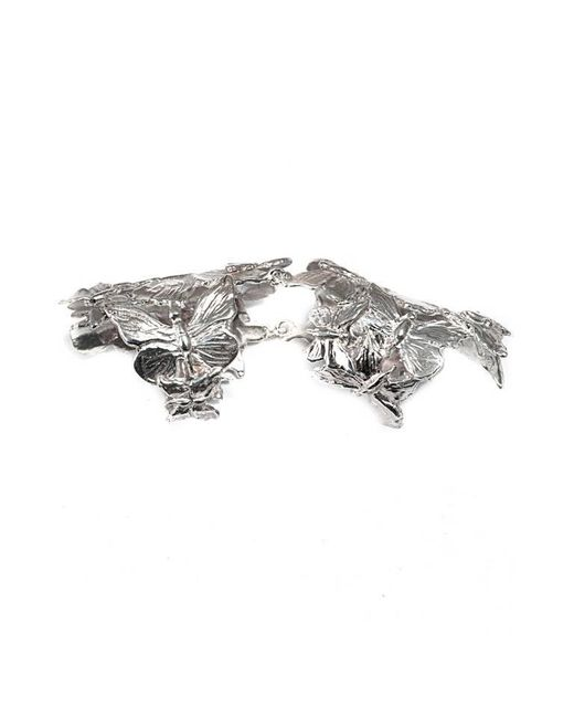 Bernard Delettrez | Metallic Articulated Butterflies Silver Ring | Lyst
