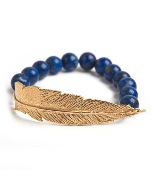 Leivan Kash | Multicolor Gold Feather Bead Bracelet | Lyst