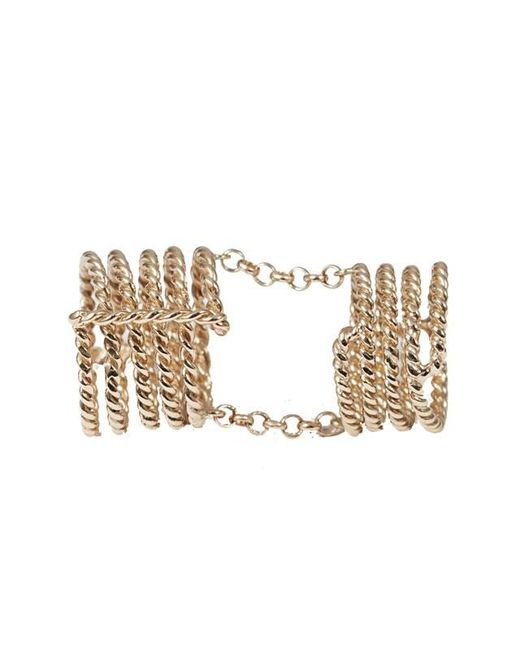 Bernard Delettrez | Metallic Articulated 7 Bands Bronze Ring | Lyst