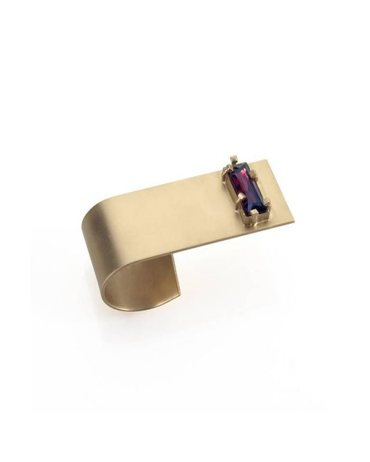 Noritamy | Metallic Obi Large Ring With Crystal | Lyst