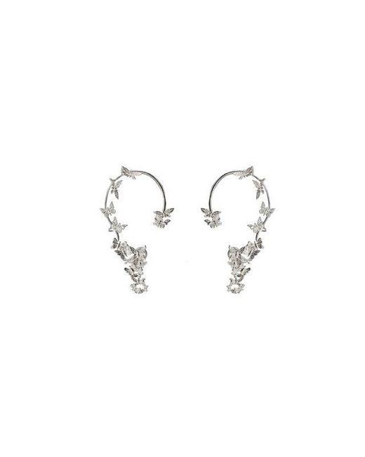 Bernard Delettrez - Metallic Butterflies Silver Ear Cuffs - Lyst