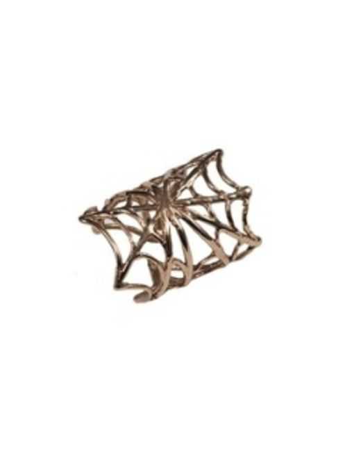 Bernard Delettrez - Metallic Bronze Web Ring - Lyst