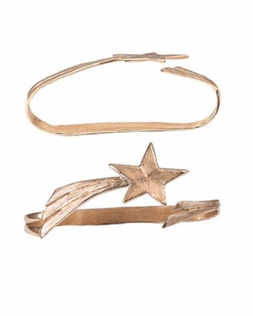 Bernard Delettrez - Metallic Shooting Star Bronze Hand Bracelet - Lyst