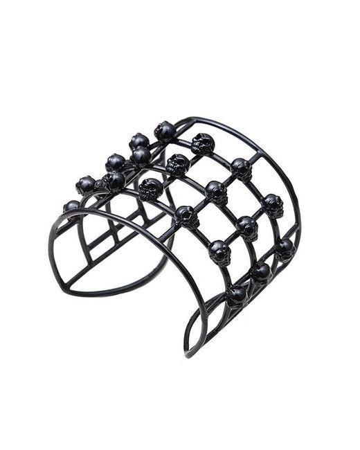 Bernard Delettrez | Cage Skulls Black Bronze Cuff | Lyst
