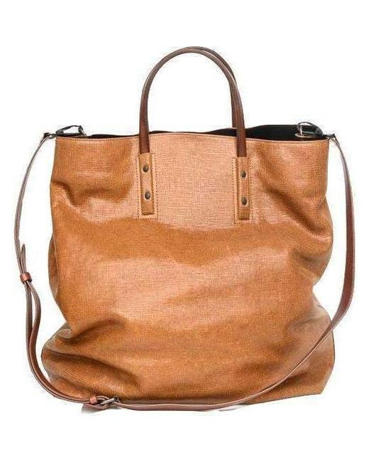 d2dcfc15f8dd Dries Van Noten - Brown Oversized Leather Bag for Men - Lyst ...