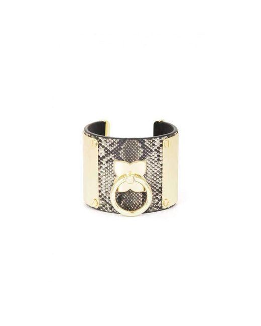 BCBGMAXAZRIA - Metallic Icon Ring Cuff Bracelet - Lyst