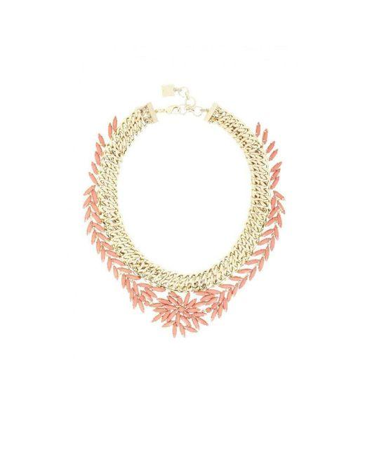 BCBGMAXAZRIA - Multicolor Woven Stone Necklace - Lyst