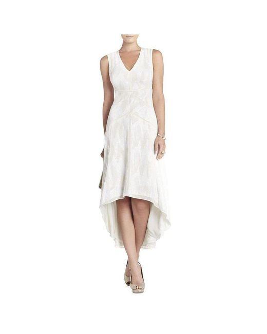 BCBGMAXAZRIA - White Salma All Over Sequin Deep V-neck Dress Wjb6w112-1o6  ... bcf7f79d5