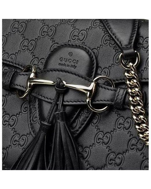 3df96b367ed ... Gucci - Black Emily Ssima Large Chain Shoulder Bag - Lyst ...
