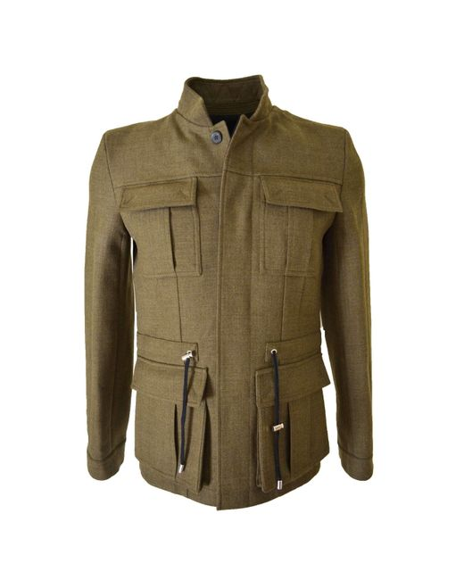 Balmain - Military Olive Green Basic Jacket for Men - Lyst