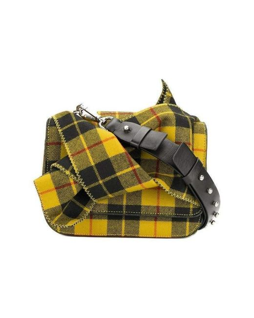 N°21 - Multicolor Checked Tartan Bow Shoulder Bag - Lyst