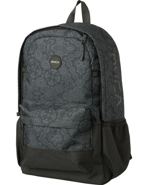 RVCA | Black Frontside Print Backpack for Men | Lyst