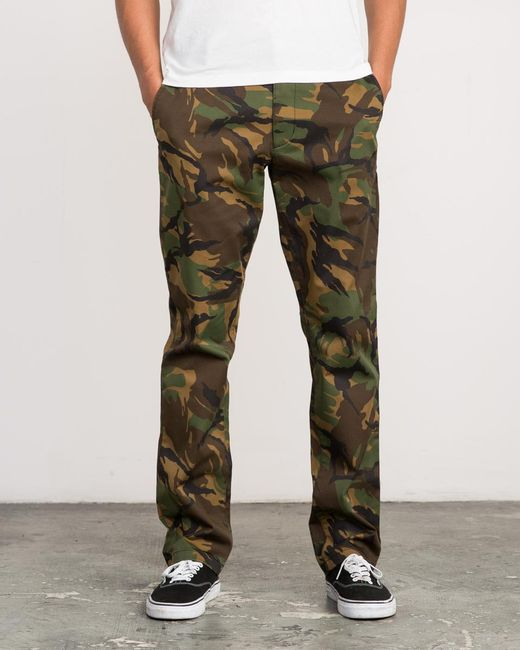 RVCA - Green Week-end Stretch Pants for Men - Lyst