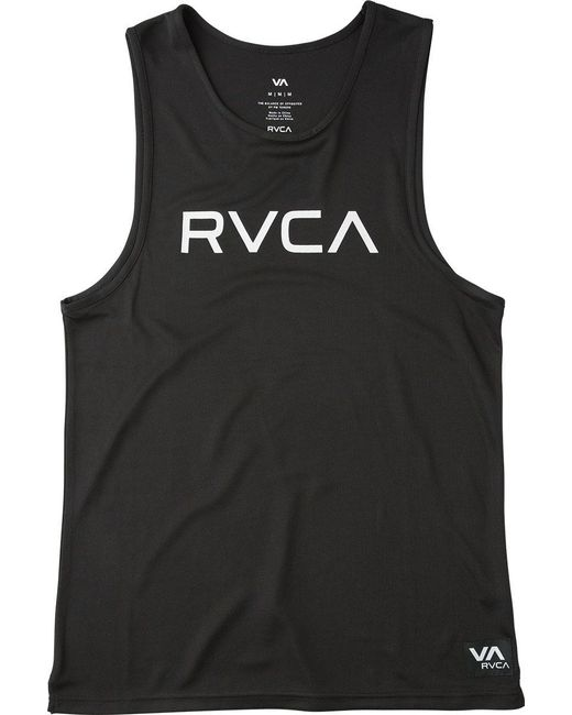 RVCA - Black Big Tank Top for Men - Lyst