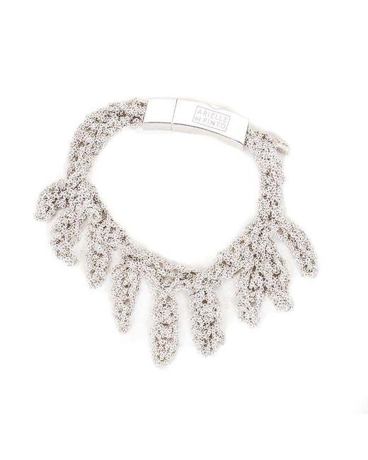 Arielle De Pinto | Metallic Laurel Bracelet In Sterling Silver | Lyst