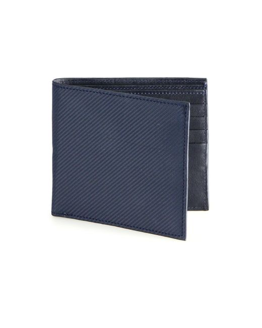 Saks Fifth Avenue - Blue Carbon Fiber Bifold Wallet for Men - Lyst