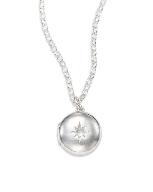 Astley Clarke   Metallic Moonstone & Sterling Silver Little Astley Locket Necklace   Lyst