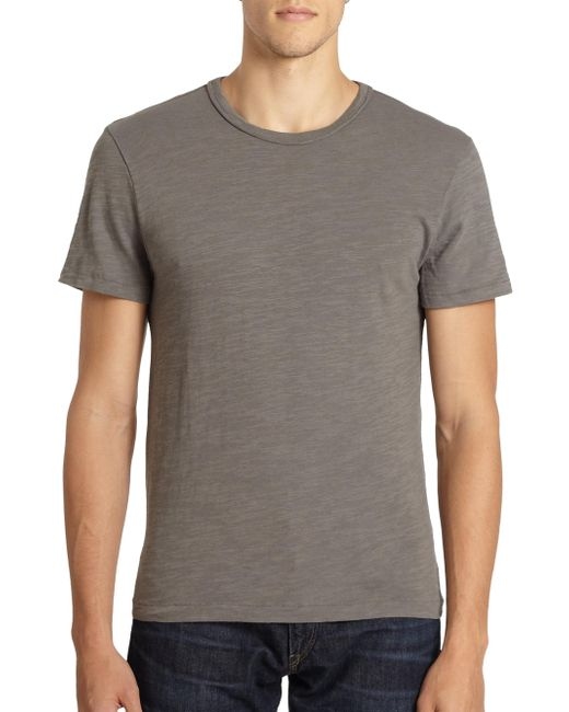 Rag & Bone - Gray Standard Issue Basic Tee for Men - Lyst