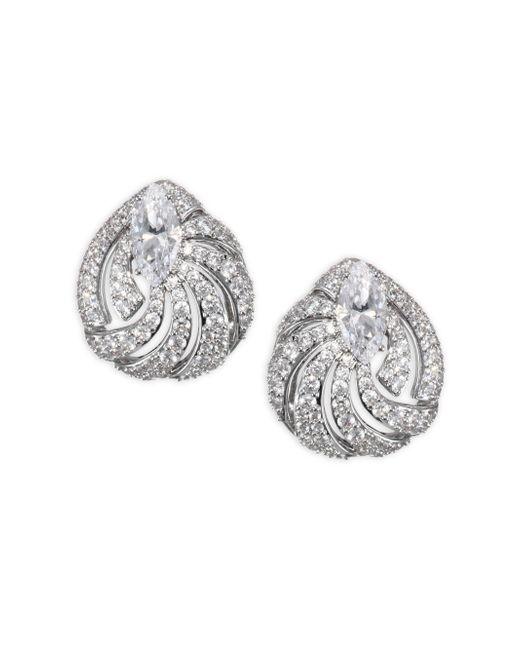 Adriana Orsini | Metallic Lush Button Earrings | Lyst