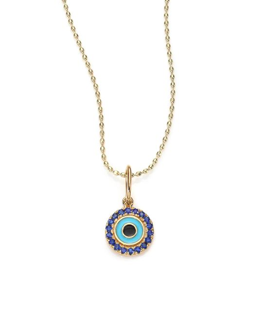 Sydney Evan - Metallic Women's Sapphire, Enamel & 14k Yellow Gold Evil Eye Pendant Necklace - Gold Multi - Lyst
