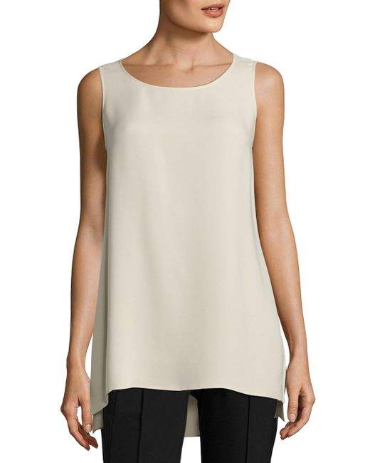 Lafayette 148 New York   Natural Ruthie Hi-lo Blouse   Lyst