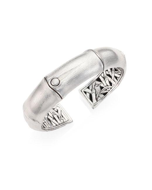John Hardy | Metallic Bamboo Sterling Silver Kick Cuff Bracelet | Lyst