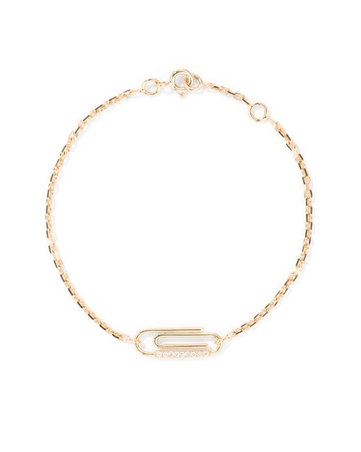 Aurelie Bidermann - Metallic Paperclip Diamond & 18k Yellow Gold Bracelet - Lyst