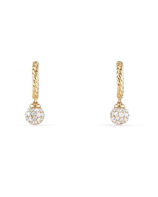 David Yurman | Metallic Solari Hoop Pavé Earrings With Diamonds In 18k Gold | Lyst