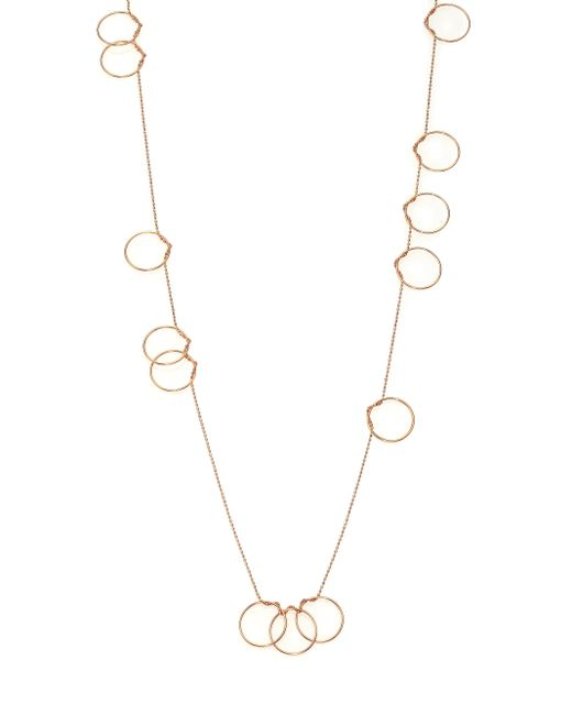 Ginette NY | Metallic 18k Rose Gold Thirteen-circle Sautoir Necklace | Lyst