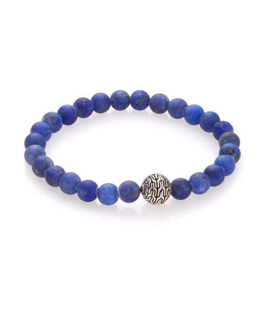 John Hardy | Blue Batu Classic Chain Lapis & Sterling Silver Bead Bracelet for Men | Lyst