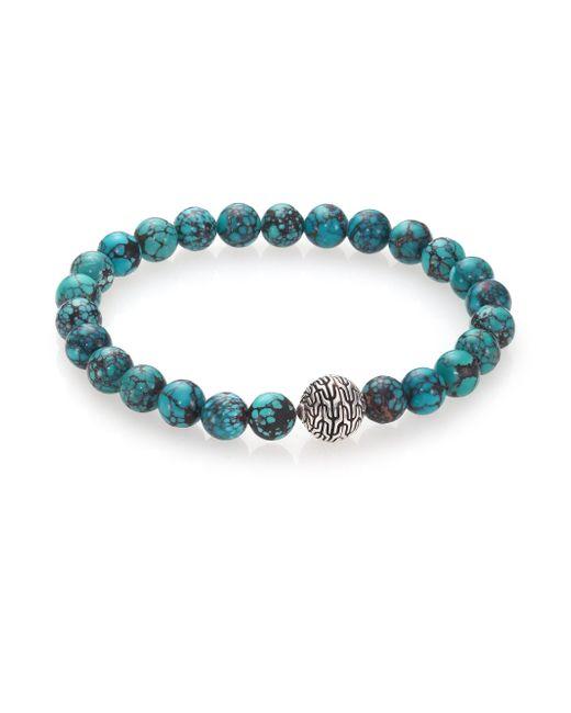 John Hardy | Blue Batu Classic Chain Turquoise & Sterling Silver Bead Bracelet | Lyst