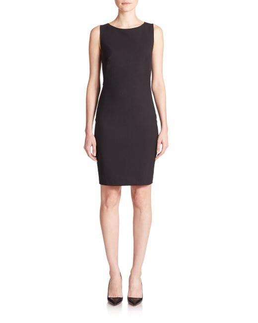 Theory | Black Betty Edition Stretch Wool Sleeveless Dress | Lyst