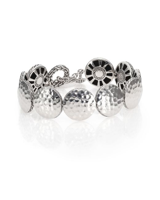 John Hardy | Metallic Palu Sterling Silver Disc Toggle Bracelet | Lyst