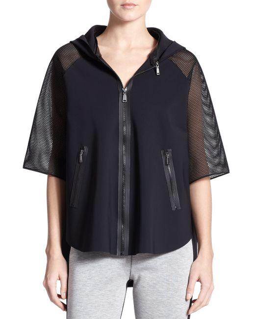 Elie Tahari | Black Caitlyn Poncho Jacket | Lyst