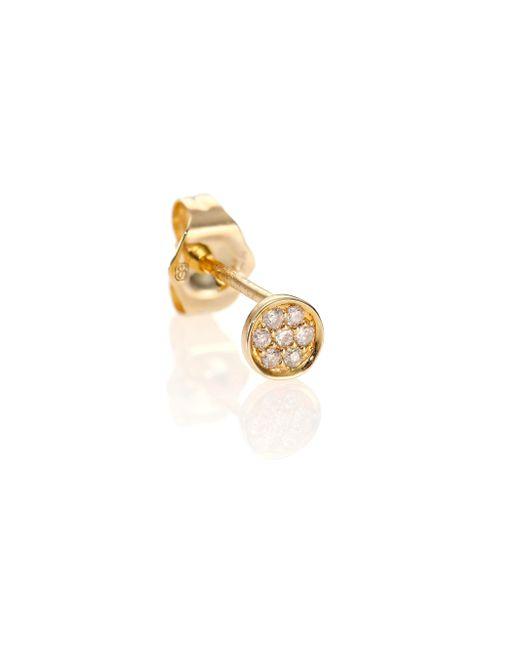 Sydney Evan | Metallic Diamond & 14k Yellow Gold Tiny Disc Single Stud Earring | Lyst