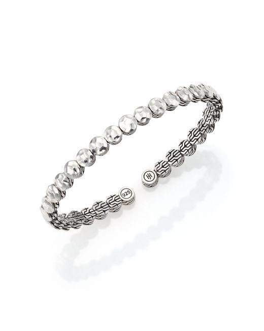 John Hardy | Metallic Palu Sterling Silver Slim Flex Cuff Bracelet | Lyst