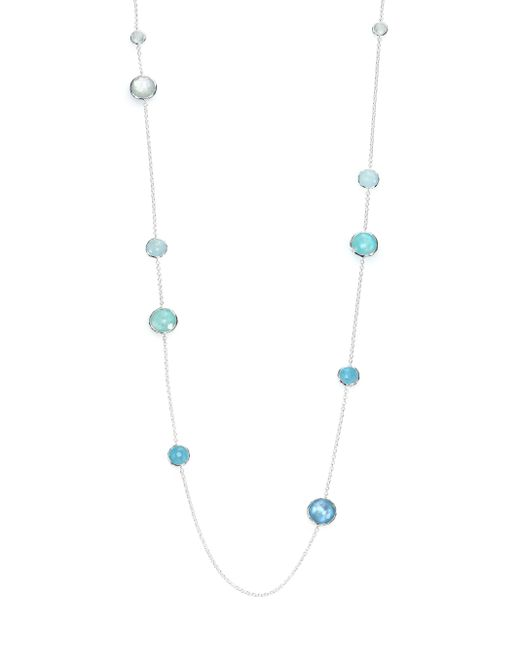Ippolita | Metallic Rock Candy Aquamarine, Larimar, Blue Topaz, Mother-of-pearl & Sterling Silver Lollipop Station N | Lyst