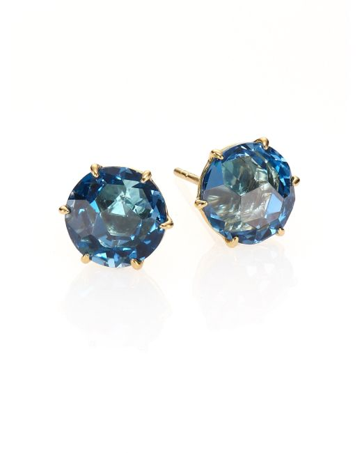 Ippolita | Rock Candy London Blue Topaz & 18k Yellow Gold Stud Earrings | Lyst