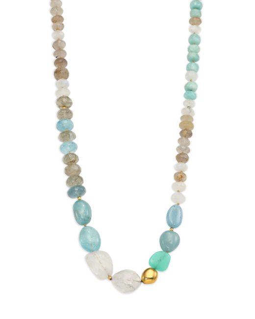Lena Skadegard | Blue Dunna Terra Semi-precious Multi-stone & 18k Yellow Gold Beaded Strand Necklace | Lyst