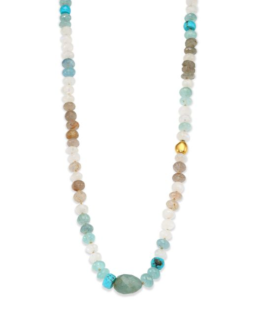 Lena Skadegard | Multicolor Semi-precious Multi-stone & 18k Yellow Gold Beaded Strand Necklace | Lyst