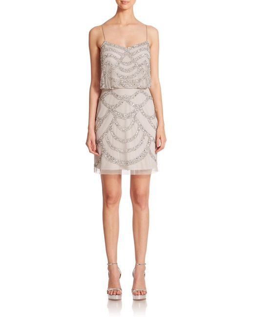 Aidan Mattox | Metallic Sequined Blouson Bridesmaid Dress | Lyst