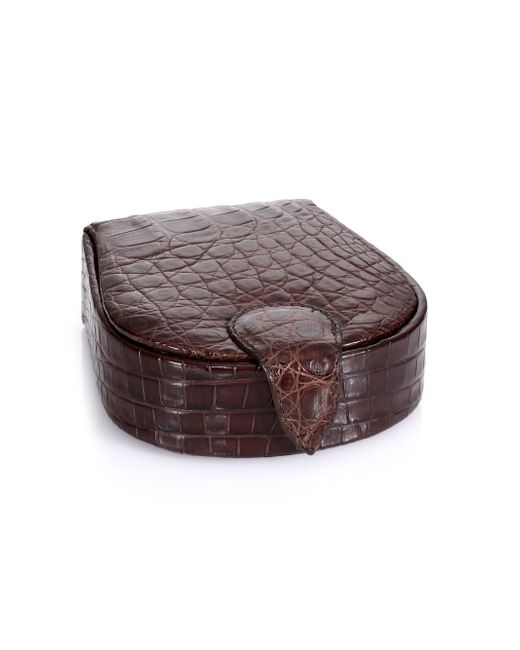 Santiago Gonzalez | Brown Crocodile Cuff Links & Case for Men | Lyst