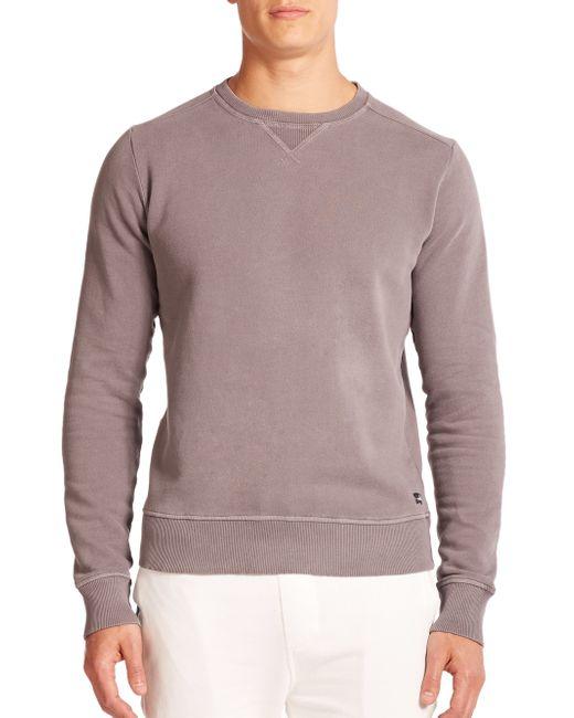 Wahts | Gray Cotton & Cashmere Crewneck Sweater for Men | Lyst