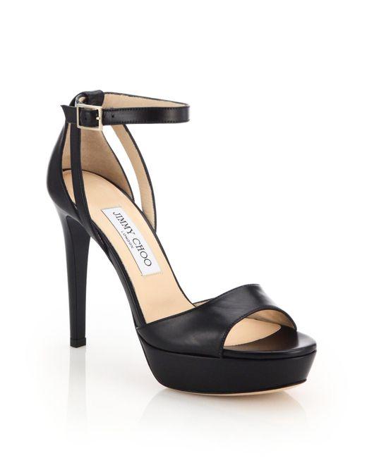 Jimmy Choo   Black Kayden 115 Leather Sandals   Lyst