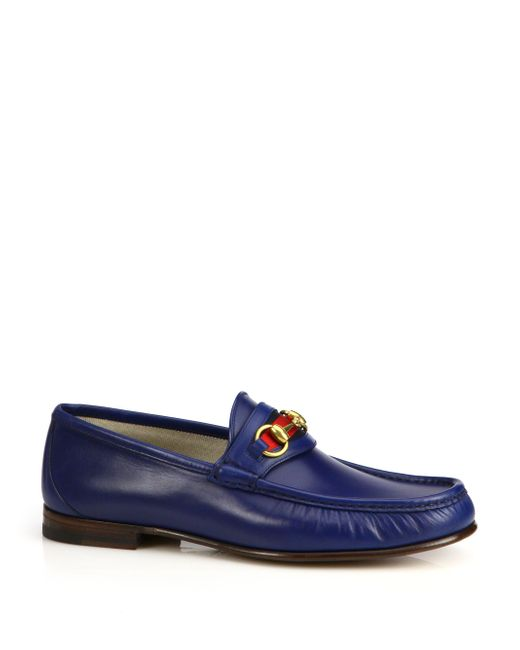 Gucci | Brown Leather Horsebit Loafers for Men | Lyst
