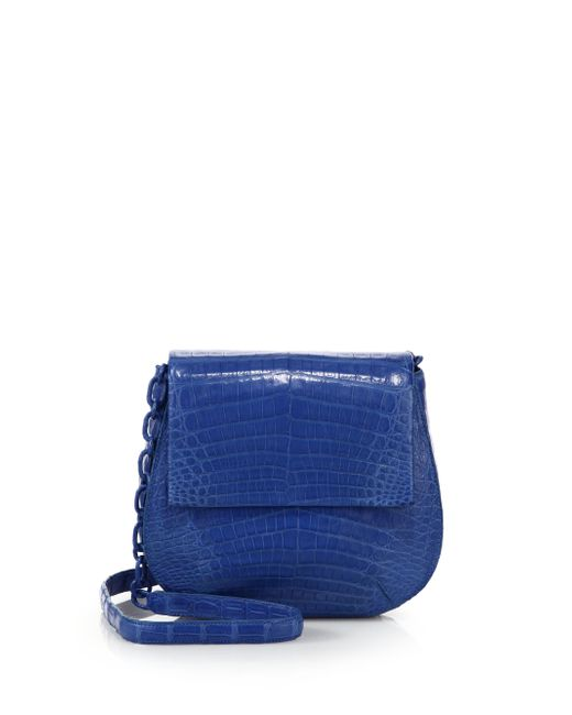 Nancy Gonzalez | Blue Round Crocodile Crossbody Bag | Lyst
