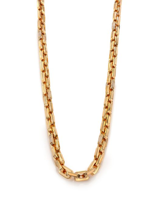 Eddie Borgo | Metallic Pave Crystal Small Supra Link Necklace | Lyst