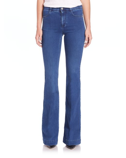Stella McCartney | Blue The 70s Flared Jeans | Lyst