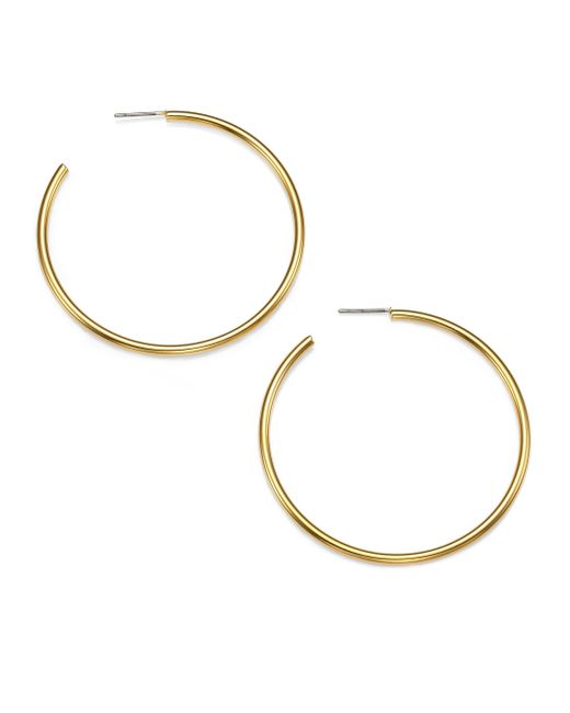 Kenneth Jay Lane | Metallic Classic Hoop Earrings/1.8 | Lyst